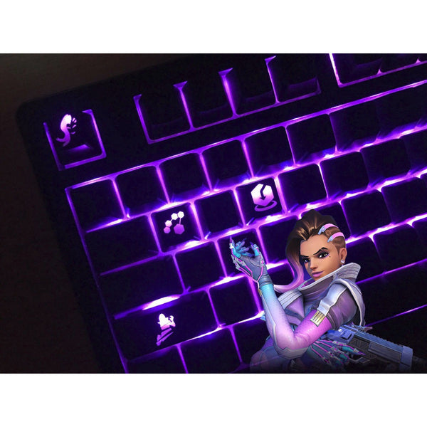 Overwatch Sombra Backlit Abilities Key Set for Mechanical Keyboards - AFK eSport Store