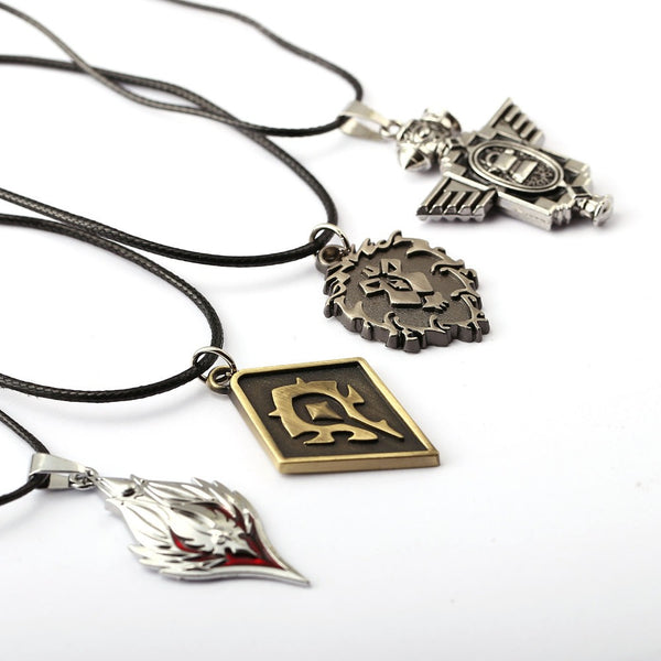 World of Warcraft Capital City Emblems Necklaces (Stormwind, Orgrimmar, Silvermoon City, Ironforge) - AFK eSport Store