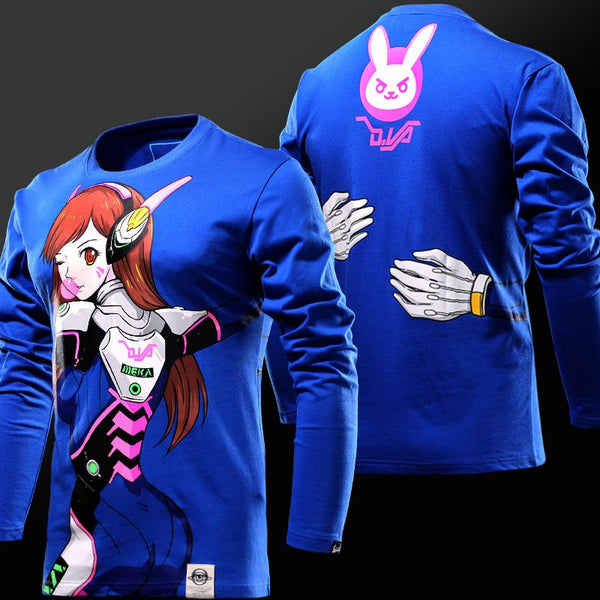 Overwatch Dva Hug Long Sleeve Shirt - AFK eSport Store