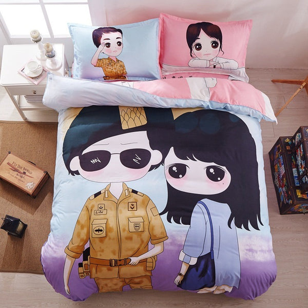 Kdrama Descendants of the Sun Bed Sheets - AFK eSport Store