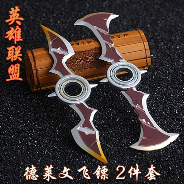 League of Legends Draven The Glorious Executioner Spinnable Shurikens Axes Gladiator Skin - AFK eSport Store