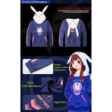 Overwatch Dva I Play To Win Bunny Ears Pullover Hoodie - AFK eSport Store (AFKeSportStore.com)