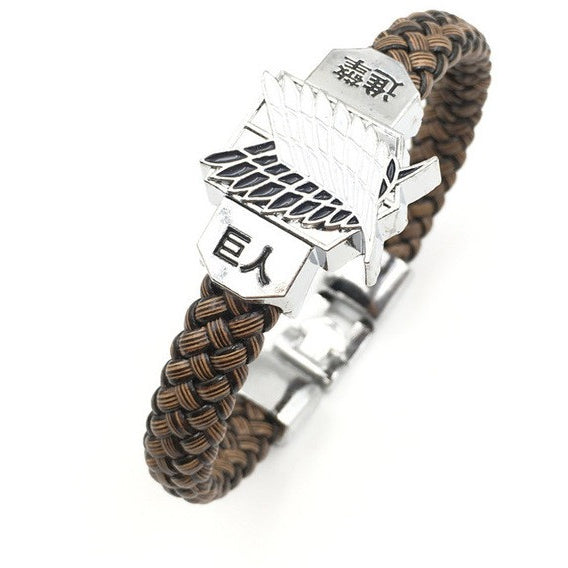 Attack on Titan Wings of Liberty Braided Rope Bracelet - AFK eSport Store (AFKeSportStore.com)