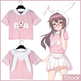 Overwatch Dva I Play To Win Bunny Ears Hooded Semi Crop Top - AFK eSport Store (AFKeSportStore.com)