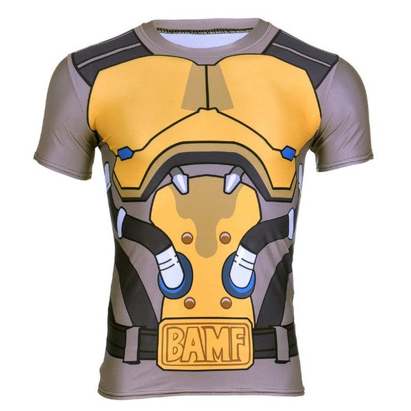 Overwatch Cosplay McCree Compression T-Shirt - AFK eSport Store (AFKeSportStore.com)