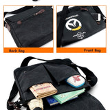 Overwatch Logo Canvas & Leather Messenger Bag - AFK eSport Store (AFKeSportStore.com)