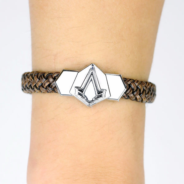 Assassin's Creed Assassin Insignia Braided Leather Bracelet - AFK eSport Store