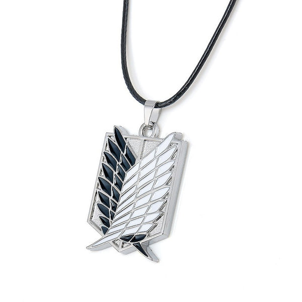 Attack on Titan Wings of Liberty Survey Corps Logo Necklace - AFK eSport Store (AFKeSportStore.com)