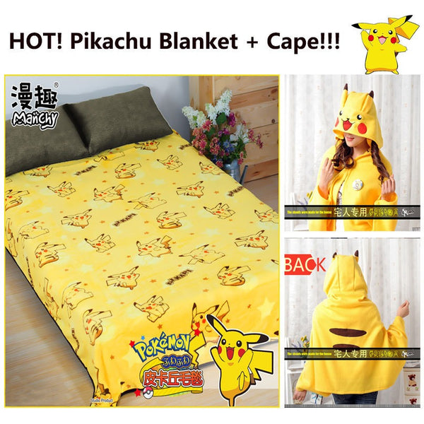 Pokemon Pikachu Blanket and Hooded Cape - AFK eSport Store