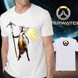 Overwatch Mercy Hero Artwork Tee - AFK eSport Store