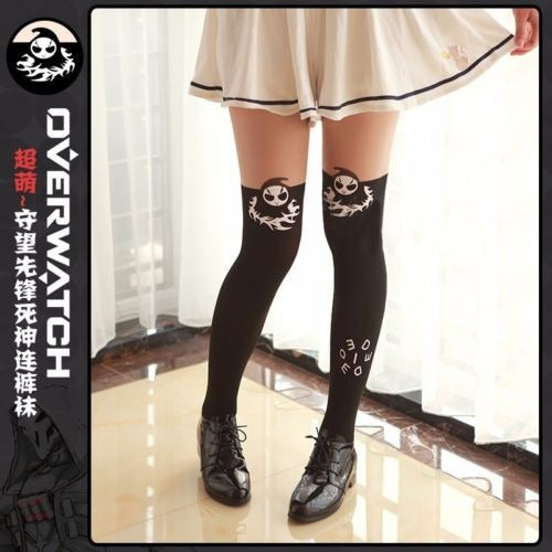Overwatch Reaper Cute Death Blossom Stockings - AFK eSport Store