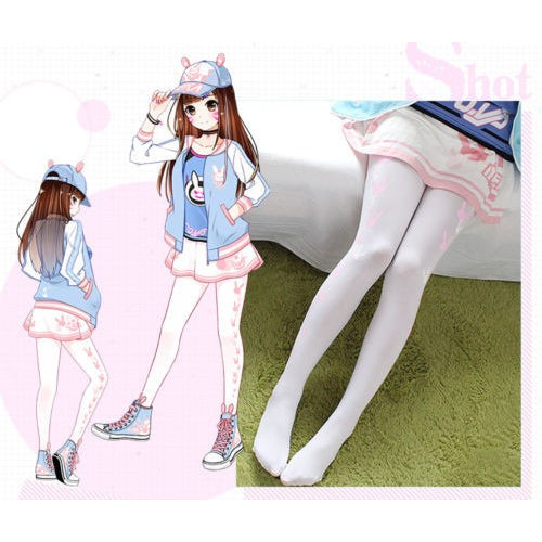 Overwatch Dva Bunny Laced Knee High Socks/Stockings - AFK eSport Store