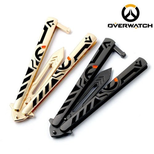 Overwatch Logo Practice Butterfly Balisong Knife - AFK eSport Store