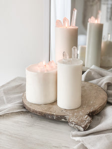 Clear Quartz Pillar Candle