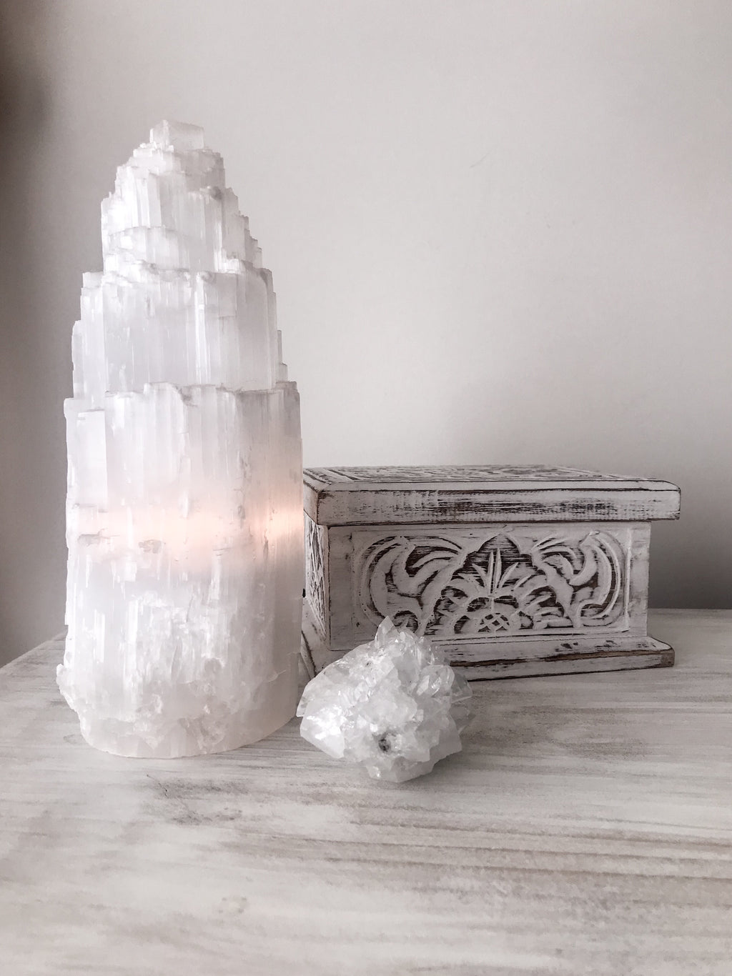 Selenite Lamp