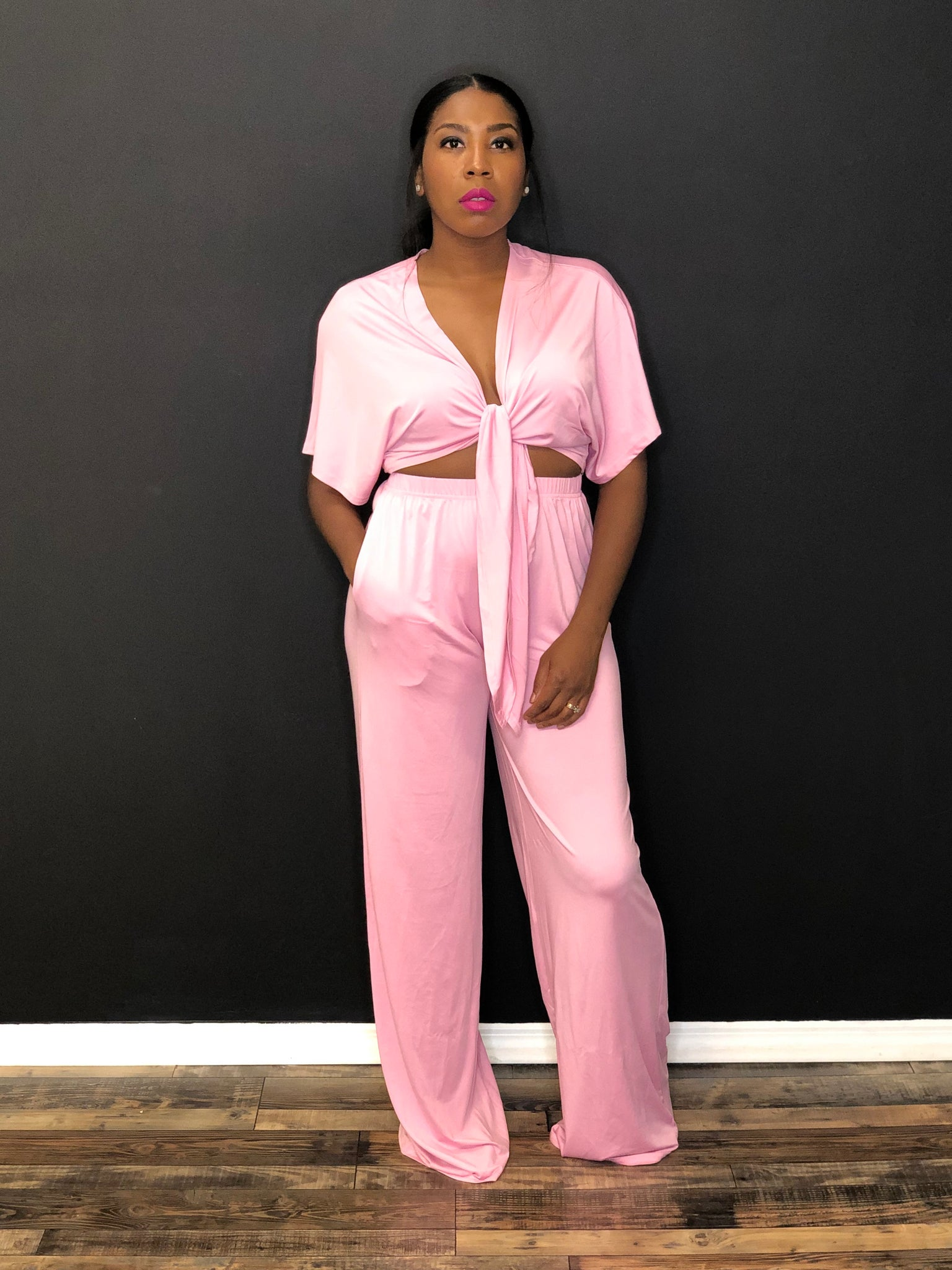 Nena two piece set(pink)