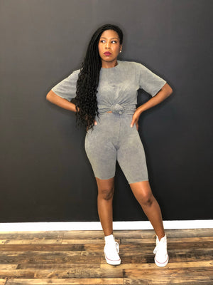 Let's Play two piece biker set(grey)