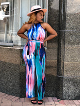 Finesse paint brushstroke jumpsuit