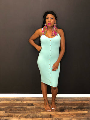 Nikkey midi dress(mint)