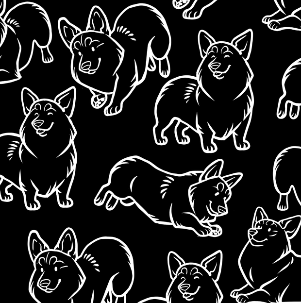 Corgi Black Shirt