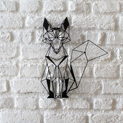 Bystag metal dekoratif duvar aksesuarı tilki- Bystag metal wall art-wall art-wall decor-metal wall decor-fox