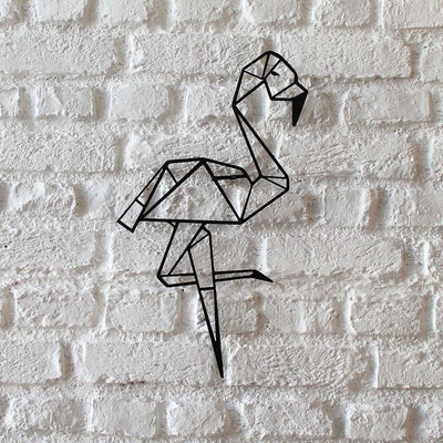 Bystag metal dekoratif duvar aksesuarı flamingo- Bystag metal wall art-wall art-wall decor-metal wall decor-flamingo
