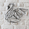 Bystag metal dekoratif duvar aksesuarı kuğu- Bystag metal wall art-wall art-wall decor-metal wall decor-swan