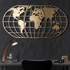 Bystag metal dekoratif duvar aksesuarı dünya haritası- Bystag metal wall art-wall art-wall decor-metal wall decor-world map-metal world map-gold world map globe-globe