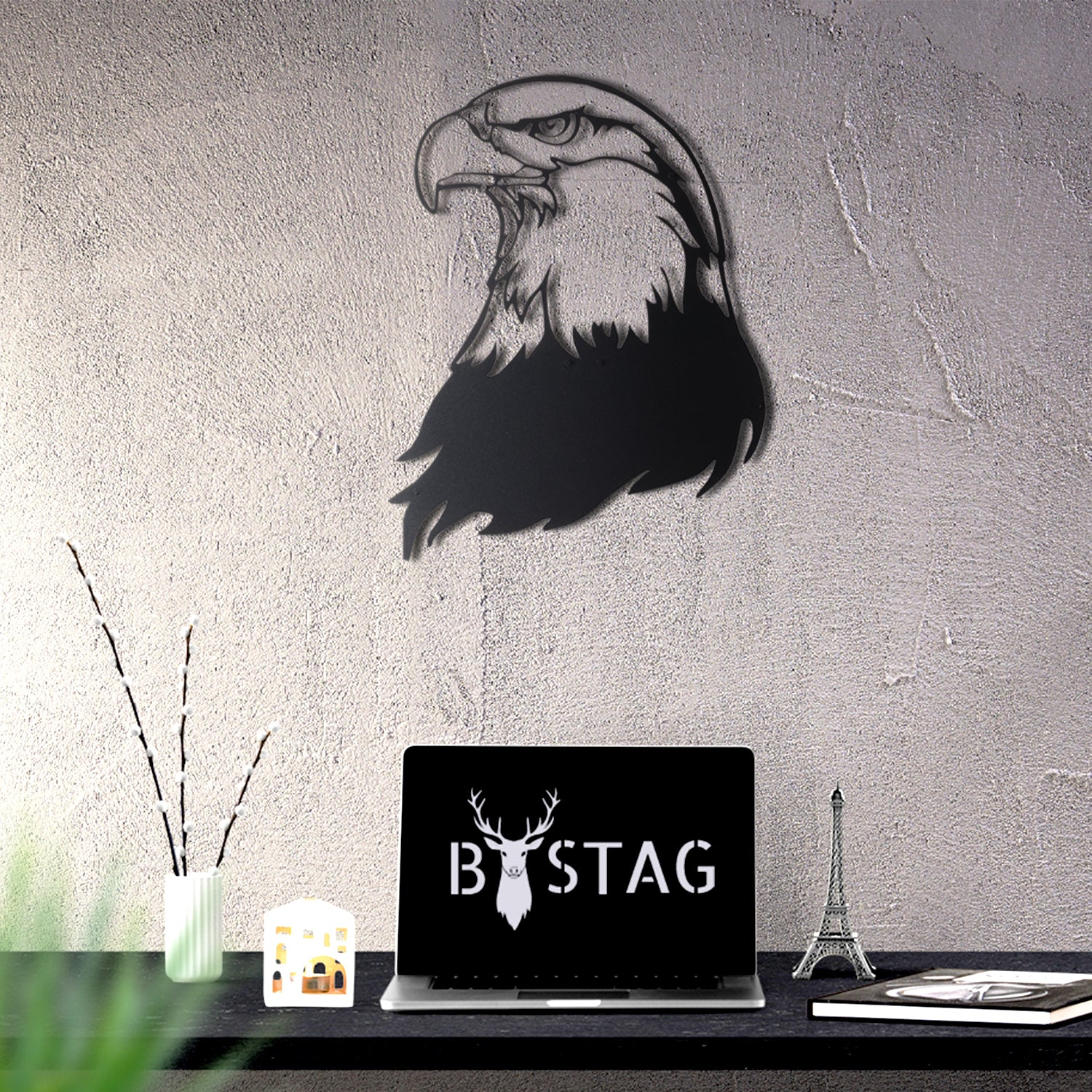 Bystag metal dekoratif duvar aksesuarı kartal- Bystag metal wall art-wall art-wall decor-metal wall decor-eagle