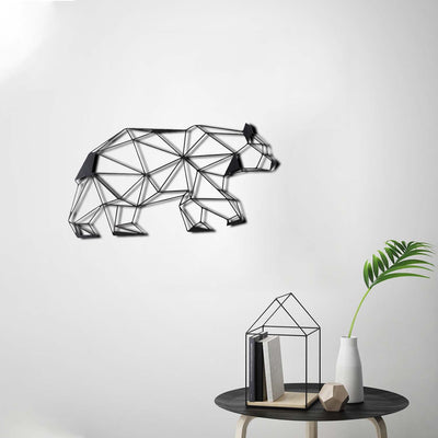 Bystag metal dekoratif duvar aksesuarı ayı- Bystag metal wall art-wall art-wall decor-metal wall decor-bear
