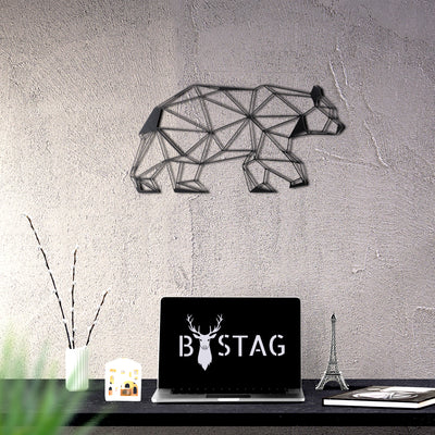 Bystag metal dekoratif duvar aksesuarı ayı- Bystag metal decorative wallart decor bear