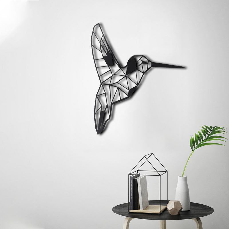 Bystag metal dekoratif duvar aksesuarı arı kuşu- Bystag metal wall art-wall art-wall decor-metal wall decor-bee bird