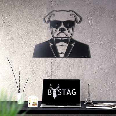 Bystag metal dekoratif duvar aksesuarı köpek- Bystag metal wall art-wall art-wall decor-metal wall decor-dog