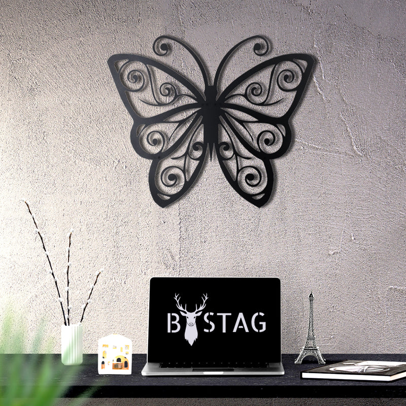 Bystag metal dekoratif duvar aksesuarı kelebek- Bystag metal wall art-wall art-wall decor-metal wall decor-butterfly