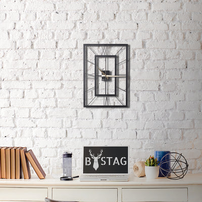 Bystag Metal decorative Wall clock november- bystag rectangle clock-Bystag Büyük saat - Bystag Metal dekoratif Duvar Saati Digdörtgen- Bystag Big Clock