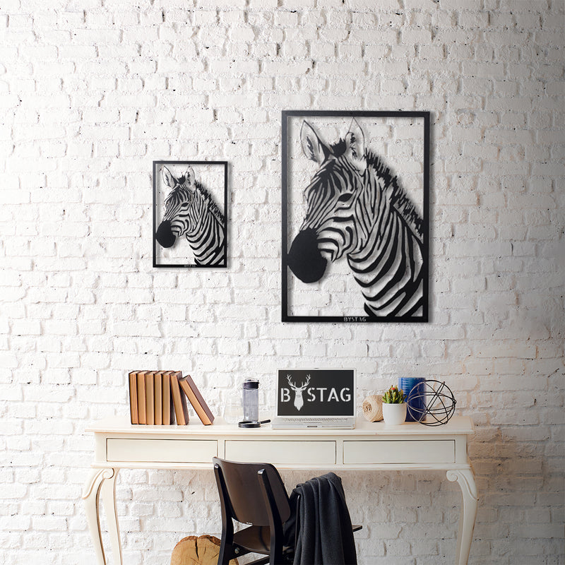 Bystag metal dekoratif duvar aksesuarı zebra- Bystag metal wall art-wall art-wall decor-metal wall decor-zebra
