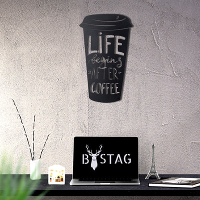 Bystag metal dekoratif duvar aksesuarı kahve- Bystag metal wall art-wall art-wall decor-metal wall decor-coffee