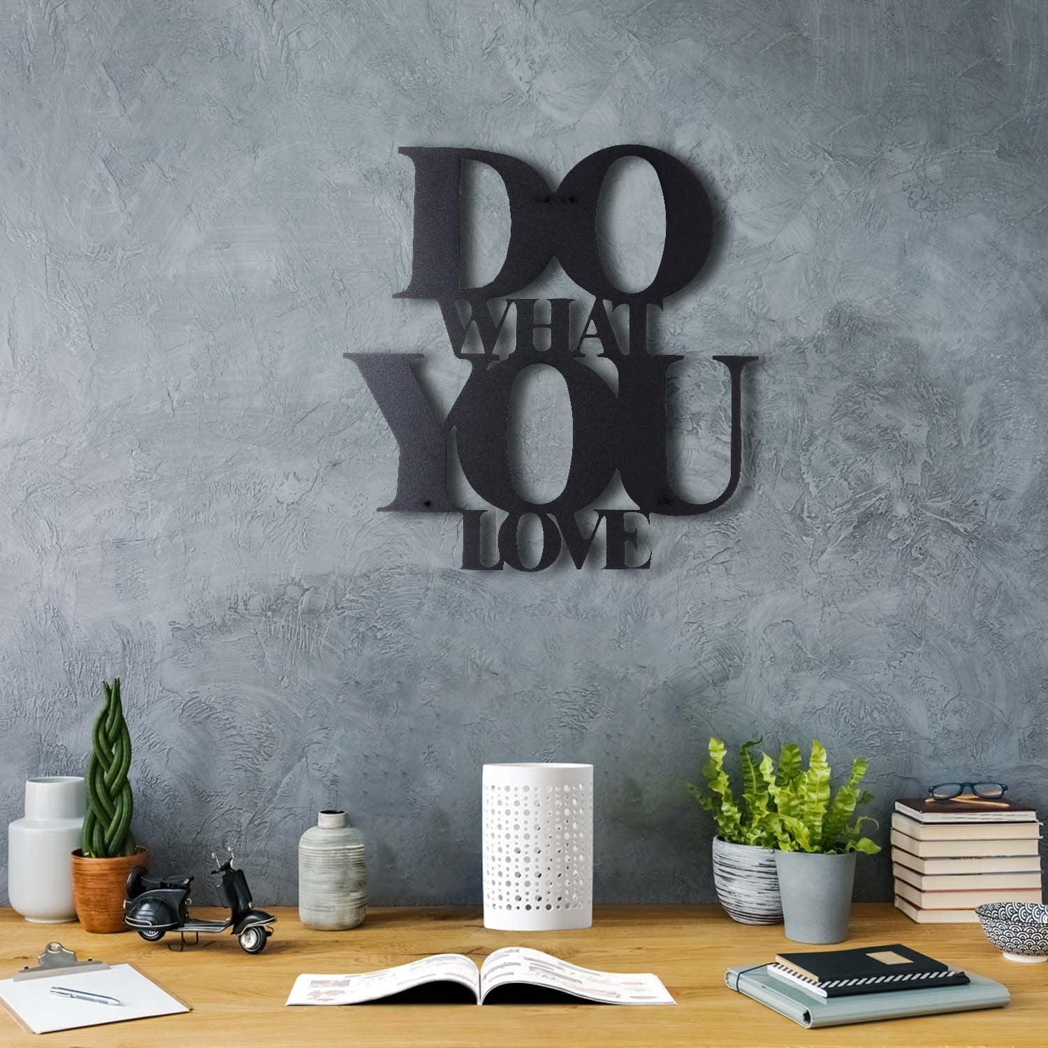 Bystag metal dekoratif duvar aksesuarı do what you love- Bystag metal wall art-wall art-wall decor-metal wall decor-do wht you love