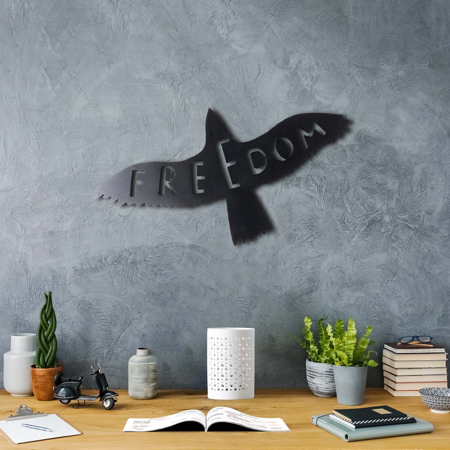 Bystag metal dekoratif duvar aksesuarı freedom-kuş- Bystag metal wall art-wall art-wall decor-metal wall decor-freedom-bird