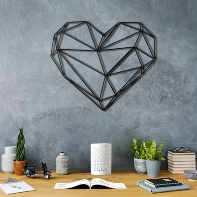 Bystag metal dekoratif duvar aksesuarı kalp- Bystag metal wall art-wall art-wall decor-metal wall decor-heart