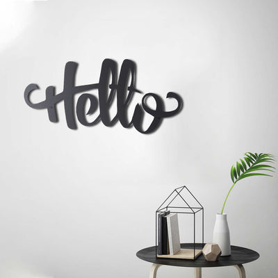 Bystag metal dekoratif duvar aksesuarı hello- Bystag metal wall art-wall art-wall decor-metal wall decor-hello
