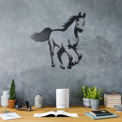 Bystag metal dekoratif duvar aksesuarı at- Bystag metal wall art-wall art-wall decor-metal wall decor-horse