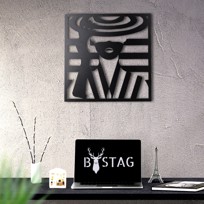 Bystag metal dekoratif duvar aksesuarı kadın- Bystag metal wall art-wall art-wall decor-metal wall decor-woman