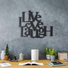 Bystag metal dekoratif duvar aksesuarı live love laugh- Bystag metal wall art-wall art-wall decor-metal wall decor-live love laugh