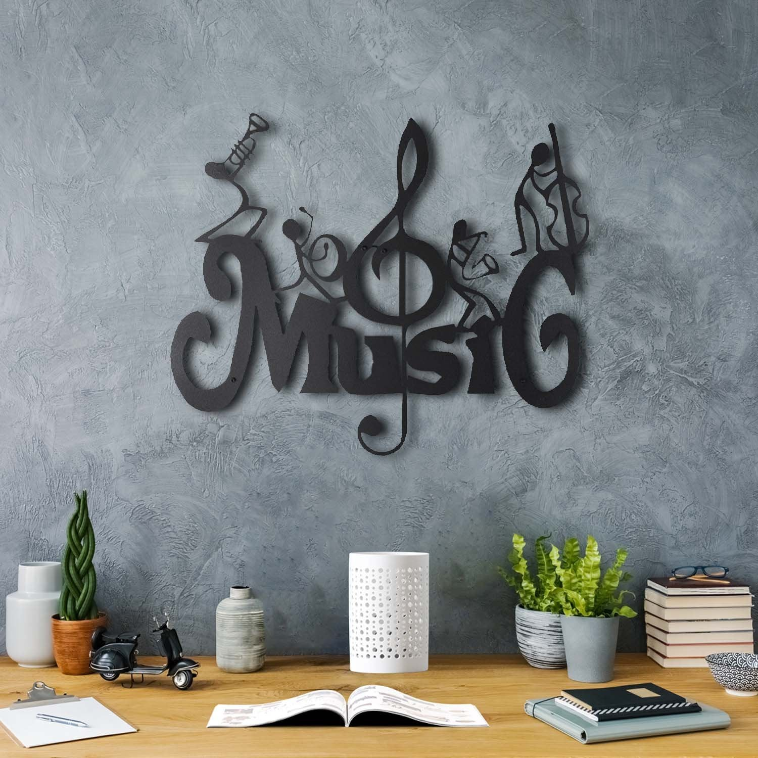 Bystag metal dekoratif duvar aksesuarı müzik- Bystag metal wall art-wall art-wall decor-metal wall decor-music