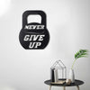 Bystag metal dekoratif duvar aksesuarı never give up- Bystag metal wall art-wall art-wall decor-metal wall decor-never give up