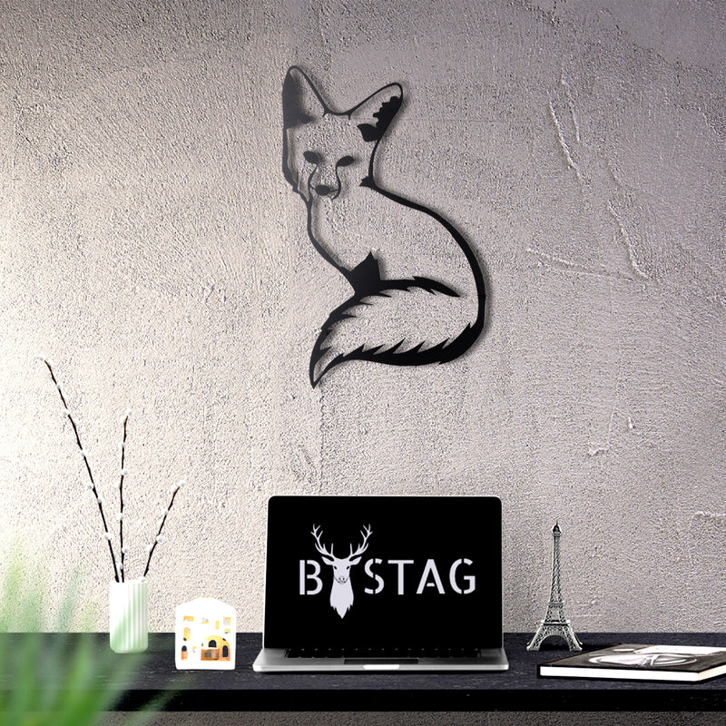 Bystag metal dekoratif duvar aksesuarı tilki- Bystag metal wall art-wall art-wall decor-metal wall decor-fox-animal