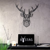 Bystag metal dekoratif duvar aksesuarı geyik- Bystag metal wall art-wall art-wall decor-metal wall decor-stag-animal