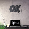 Bystag metal dekoratif duvar aksesuarı okay- Bystag metal wall art-wall art-wall decor-metal wall decor-okay