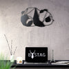Bystag metal dekoratif duvar aksesuarı panda- Bystag metal decorative wallart decor panda